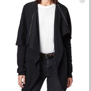 All Saints Dahlia Sweater Cardigan Black Small S